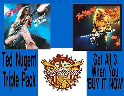 Ted Nugent Triple Pack Flag Poster