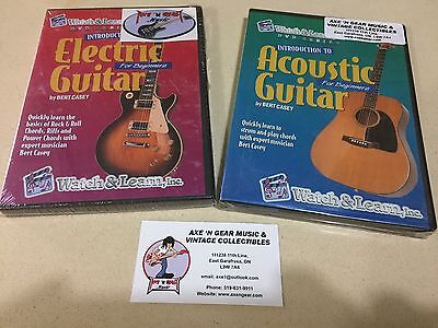 Lot Of Two New Watch And Learn Acoustic And Electric Guitar Instructional Dvd's