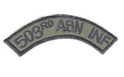 """Army Patch:  """"503rd ABN INF"""" tab - 503rd Airborne Infantry Regiment"""