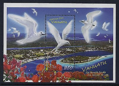2008 Vanuatu Christmas Birds & Flowers Minisheet Fine Mint Mnh/muh