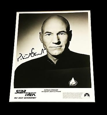 Patrick Stewart Hand Signed Autographed Star Trek 8X10 Photo With Coa Very Rare