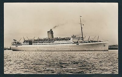 1951 Aden Paquebot - S.S. Asturias Real Photo Postcard