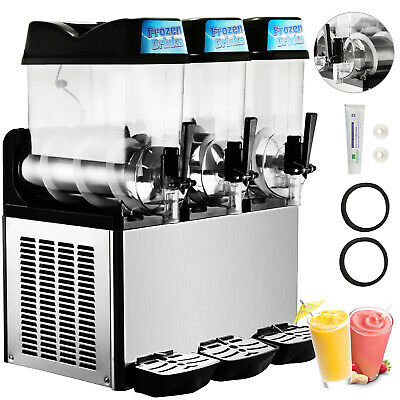 Slush Making Machine 3 Tank Snow Frozen Drink Smoothie Maker Commercial HQ