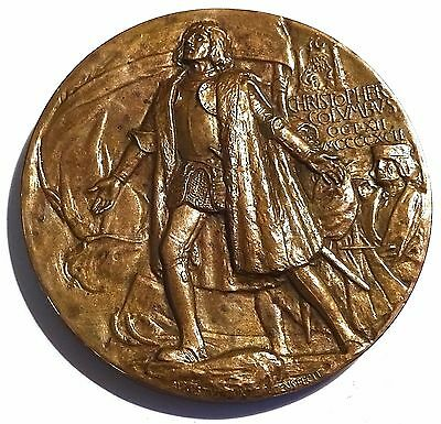 Superb 1893 Chicago COLUMBIAN EXPOSITION MEDAL by SAINT GAUDENS & CHARLES BARBER