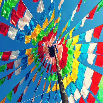 Tibetan Buddhist Prayer Flags Colorful Senki Wind Horse Flag 6 Meters 20 Flags