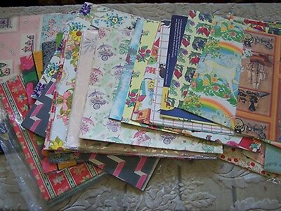 LOT Vintage Wrapping Paper = Gift Wrap = All Occasion Unicorn