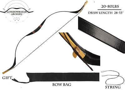 Mongolia Bow Handmade Black Really Snakeskin Longbow Archery Hunting Manchu Bow