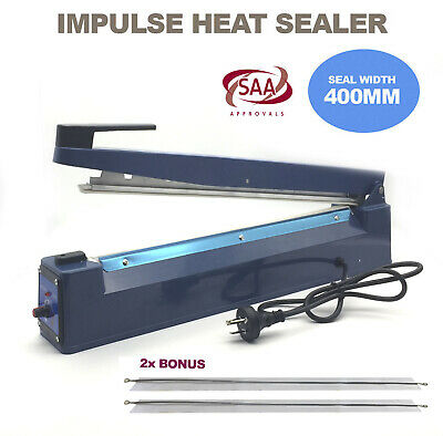 400mm Impulse Heat Sealer Hand SAA Machine Poly Bag Sealing Electric Plastic