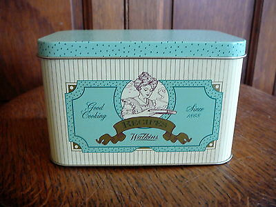 WATKINS PRODUCTS Vintage 1993 METAL TIN RECIPE BOX 125 ANNIVERSARY + CARDS - EX