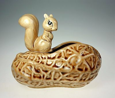 Norcrest Squirrel on Peanut Bowl or Planter Japan A 234 Hand Painted Ceramic