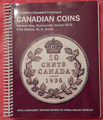 Used 2013 Charlton Canadian Coins Volume 1 Catalogue 67th Edition