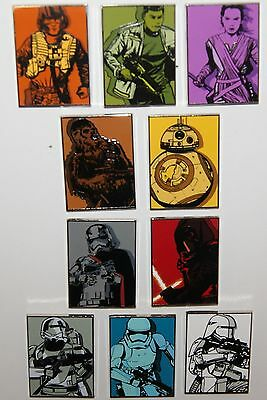 Disney Star Wars Force Awakens Kylo Ren Phasma BB-8 Mystery 10 Pin Complete Set