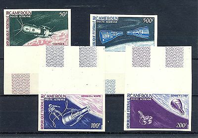 Africa Cameroon  1966  Mi# 449/52  Imperforated  **  Mnh  Space  @2