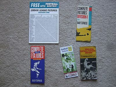 fixture card 2008/9 liverpool everton tranmere chester