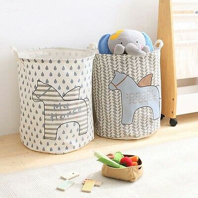 40*50CM Waterproof Foldable Storage Basket Kids Toy Dirty Clothes Home Organizer