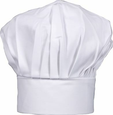 "Harold Gourmet Classics Adult Size 100% Cotton Adjustable Chef Hat - 8.5"" Tall"