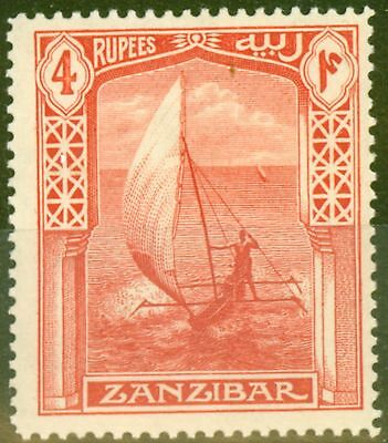 Zanzibar 1914 4R Scarlet SG273 Fine & Fresh Lightly Mtd Mint