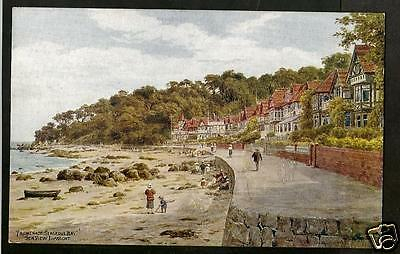 GWO Early A.R.Quinton Art Postcard, Seagrove Bay, Seaview, Isle of Wight