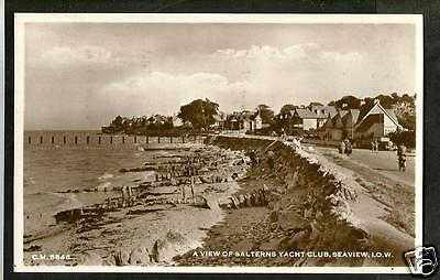 GXM 1956 Postcard, View of Salterns Yacht Club, Seaview, Isle of Wight