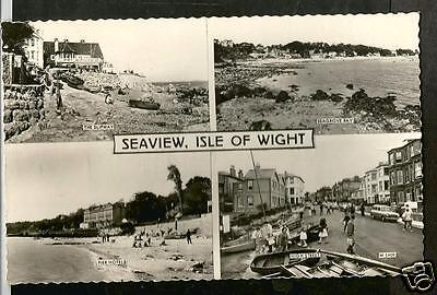 GXK Early Multiview Postcard, Seaview, Isle of Wight shows Pier Hotel