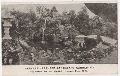 London, Carters Japanese Lanscape Garden Holland Park 1909 Advert Postcard B749