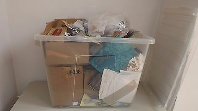 Giant Box Of World Stamps In Old Tins, Boxes, Envelopes Etc (1000S)