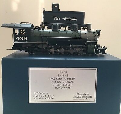 ON3 Scale MMI Precision Scale Co 2-8-2 K-37 Locomotive- With Tsunami DCC Sound