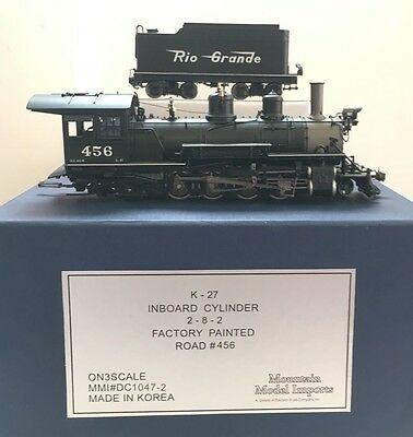 ON3 Scale MMI Precision Scale Co 2-8-2 K-27 Locomotive- With Tsunami DCC Sound
