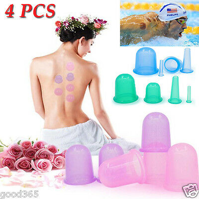 Hot Silicone Cup Massager Vacuum Body and Facial Cups Set Anti Cellulite Cupping
