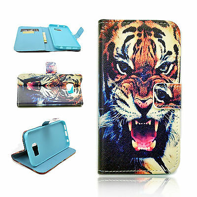 PU Leather Phone Pouch Wallet Flip Slots Cover Case For Samsung Galaxy S6 Edge