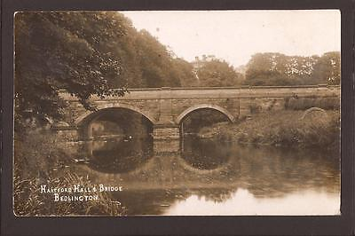 Bedlington. Country House. Hartford Hall and Bridge. 1913. RP.
