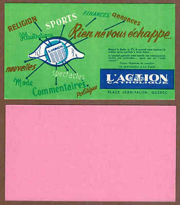 L'ACTION CATHOLIQUE NEWSPAPER: Group of 9 Scarce CANADIAN Ink Blotters (1950)