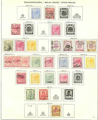 Malaya States   Collection  76 St.  Most */0    Most  Vf