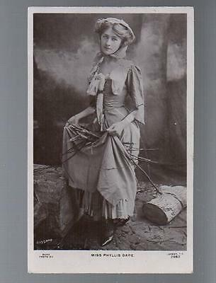 Phyllis Dare Bassano Rapid Real Photo Vintage Postcard #2982 Early 1900s