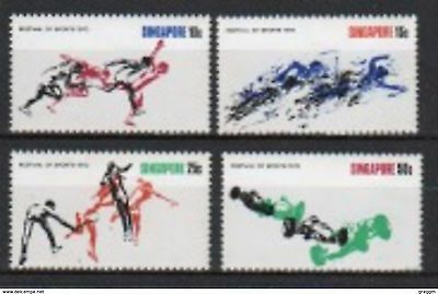 Singapore set of stamps to celebrate Festival of Sports.