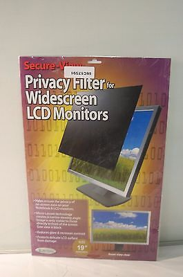 "Kantek Secure View Privacy Filter 19"" LCD Monitors SVL19.0W Widescreen"