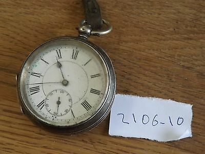 Good Antique Solid Sterling Silver Pocket Watch