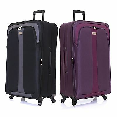 Extra Large XXL Expandable 4 Spinner Wheels Light Luggage Trolley Suitcase Case