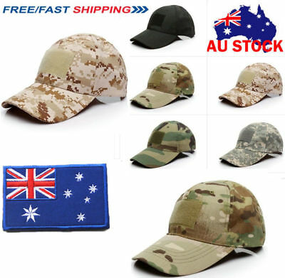 Camo Special Forces Operator Tactical American AU Flag Baseball Hat Cap