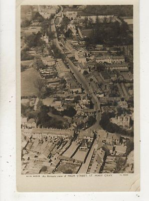 Airmans View Of High Street St Mary Cray Kent Vintage RP Postcard