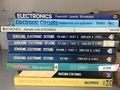 JOB LOT Servicing Electronics Systems Books Circuits Engineer Electrical Testing