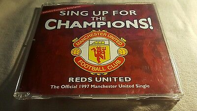 Reds United Sing Up For The Champions 1997 Cd Single Manchester United Mufc