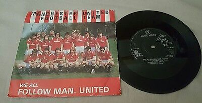 """Manchester United Football Team We All Follow Man United 7"""" Single P/s 1985 Mufc"""