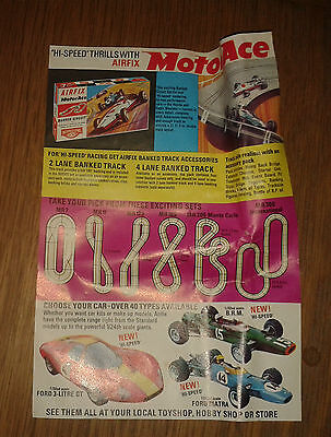 Airfix Motor Ace single page advertising leaflet slot car racing not Scalextric