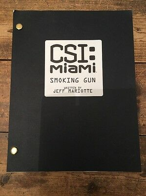 CSI MIAMI Smoking Gun Script Written And Signed By Jeff Matiotte Collectible