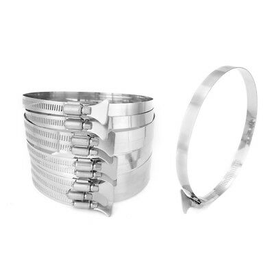 118mm-140mm Clamping Range 304 Stainless Steel Butterfly Hose Clamp 10pcs