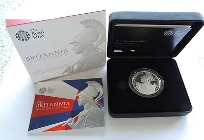 2015 Royal Mint Silver Proof £2 1oz Britannia Cased With COA Complete