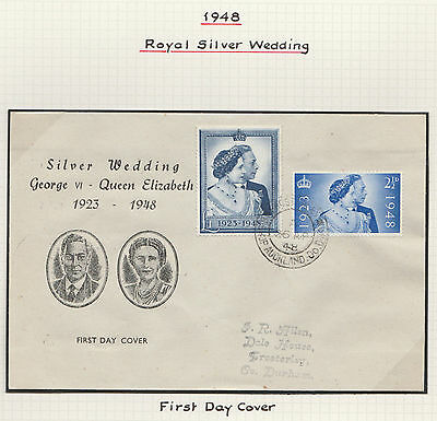 1948 Royal Silver Wedding Superb Illustrated First Day Cover