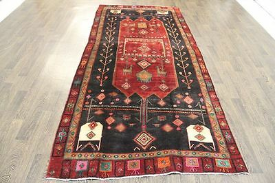 Traditional Vintage Persian Wool  4.7 X 10.2 Oriental Rug Handmade Carpet Rugs