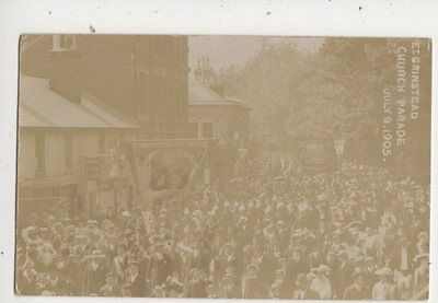 East Grinstead Church Parade Sussex 1905 RP Postcard